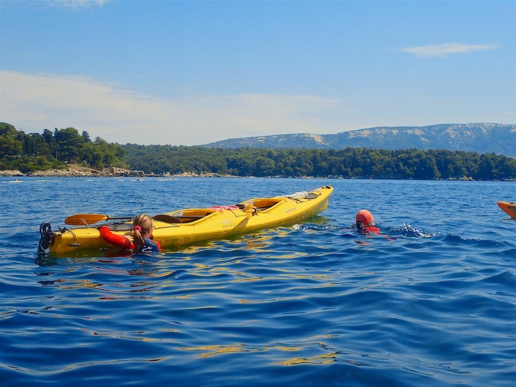Chorvátsko morské kajaky kúpanie